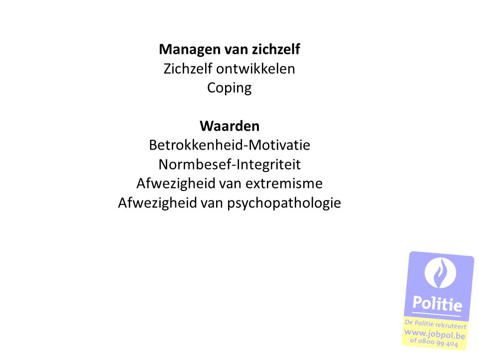 Betrokkenheid-Motivatie Normbesef-Integriteit