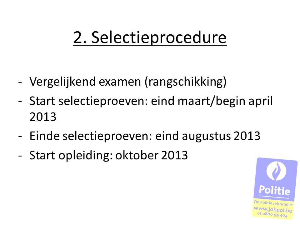 2. Selectieprocedure Vergelijkend examen (rangschikking)