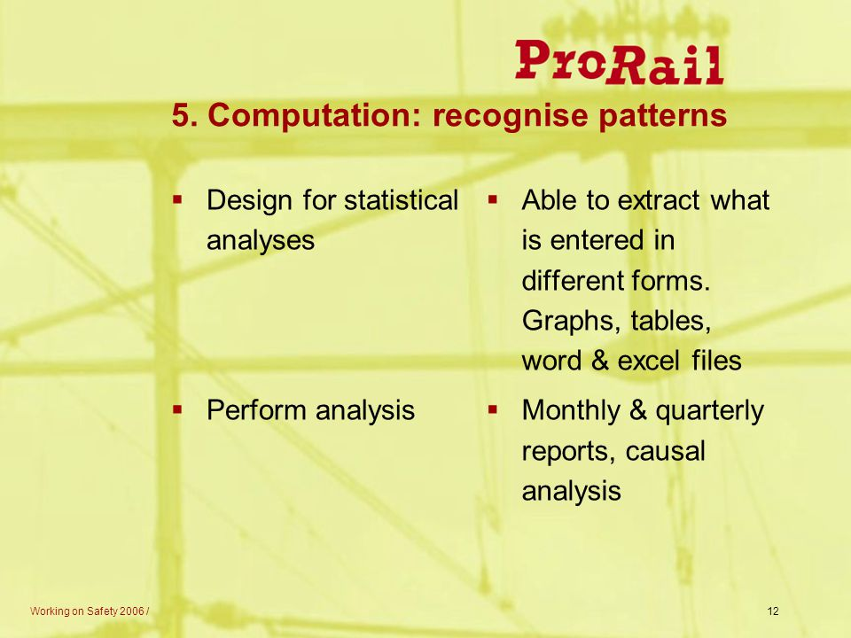 5. Computation: recognise patterns