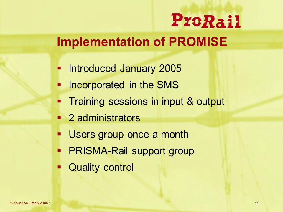 Implementation of PROMISE