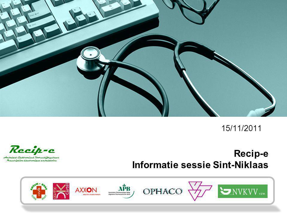 Recip-e Informatie sessie Sint-Niklaas