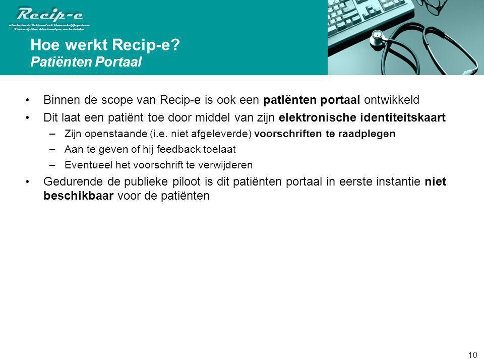 Hoe werkt Recip-e Patiënten Portaal
