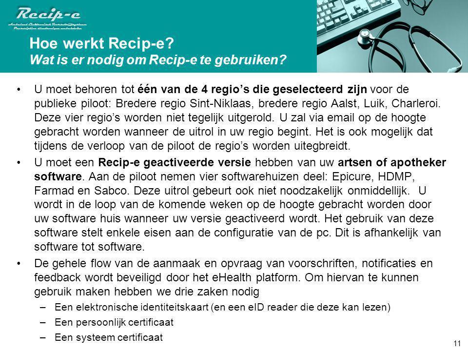 Hoe werkt Recip-e Wat is er nodig om Recip-e te gebruiken