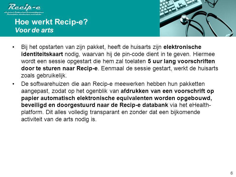 Hoe werkt Recip-e Voor de arts