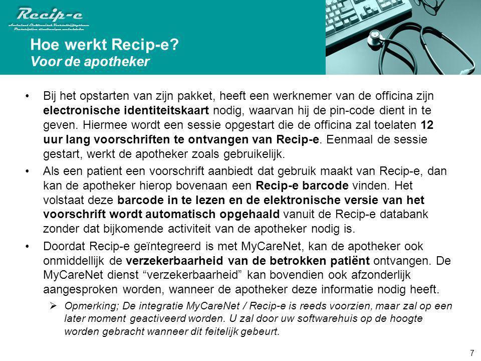 Hoe werkt Recip-e Voor de apotheker