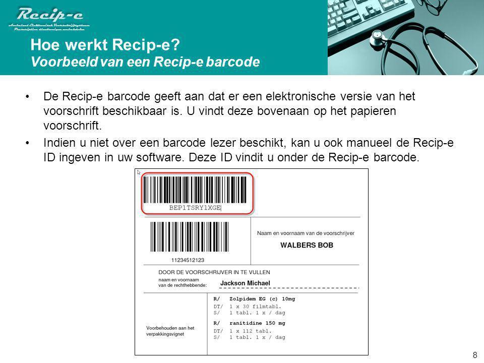 Hoe werkt Recip-e Voorbeeld van een Recip-e barcode