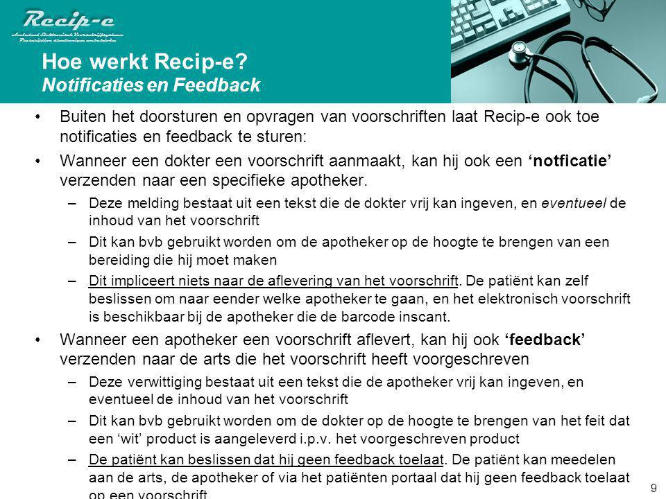 Hoe werkt Recip-e Notificaties en Feedback