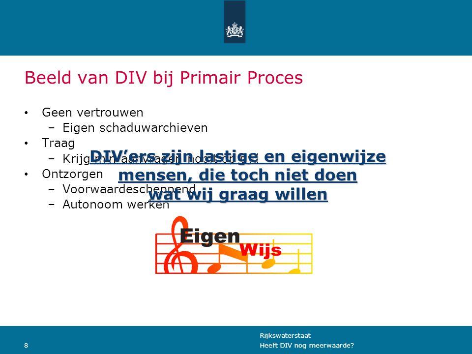 Beeld van DIV bij Primair Proces