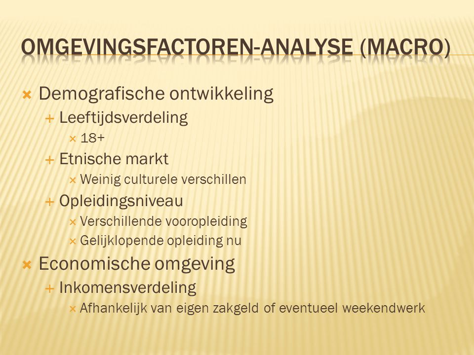 Omgevingsfactoren-analyse (macro)