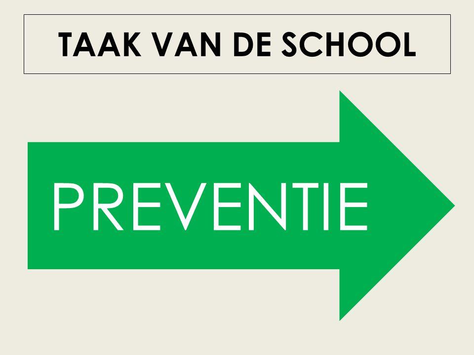 TAAK VAN DE SCHOOL PREVENTIE PREVENTIE
