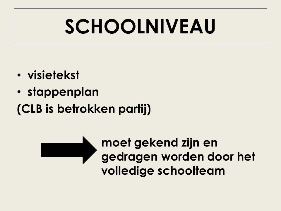 SCHOOLNIVEAU visietekst stappenplan (CLB is betrokken partij)