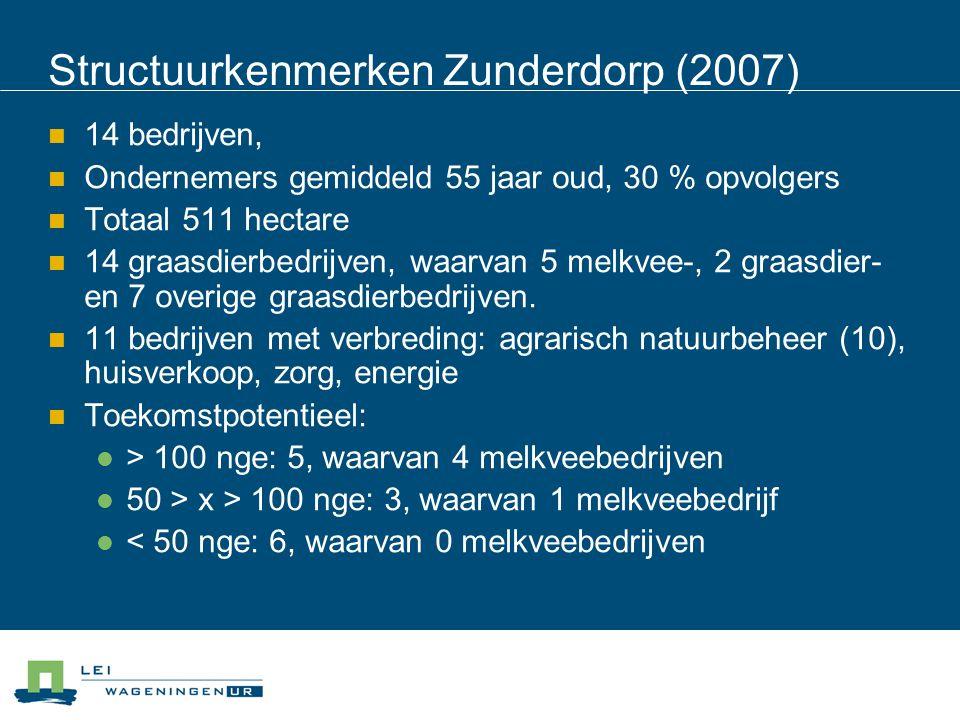 Structuurkenmerken Zunderdorp (2007)