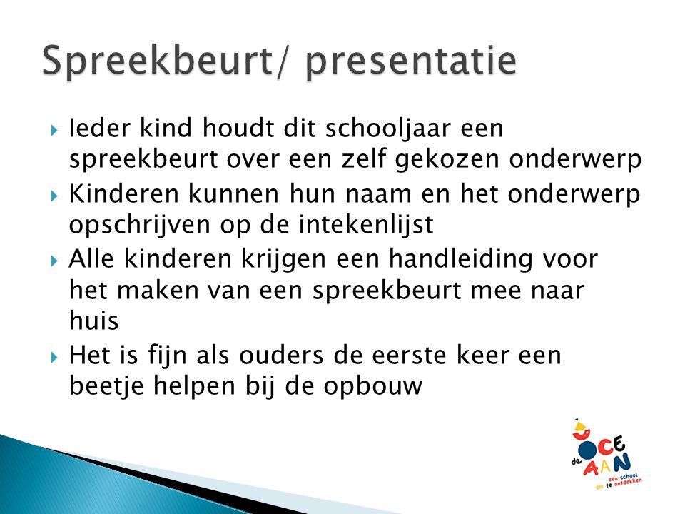 Spreekbeurt/ presentatie