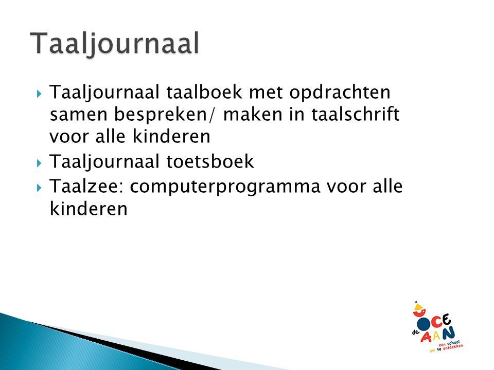 Taaljournaal Taaljournaal taalboek met opdrachten samen bespreken/ maken in taalschrift voor alle kinderen.