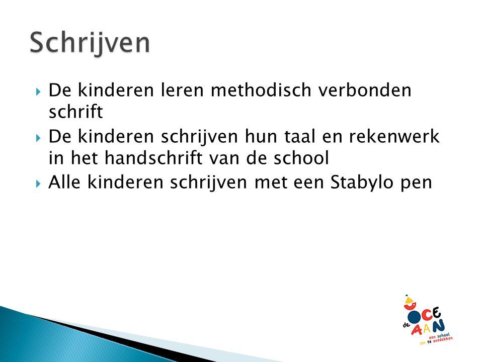 Schrijven De kinderen leren methodisch verbonden schrift