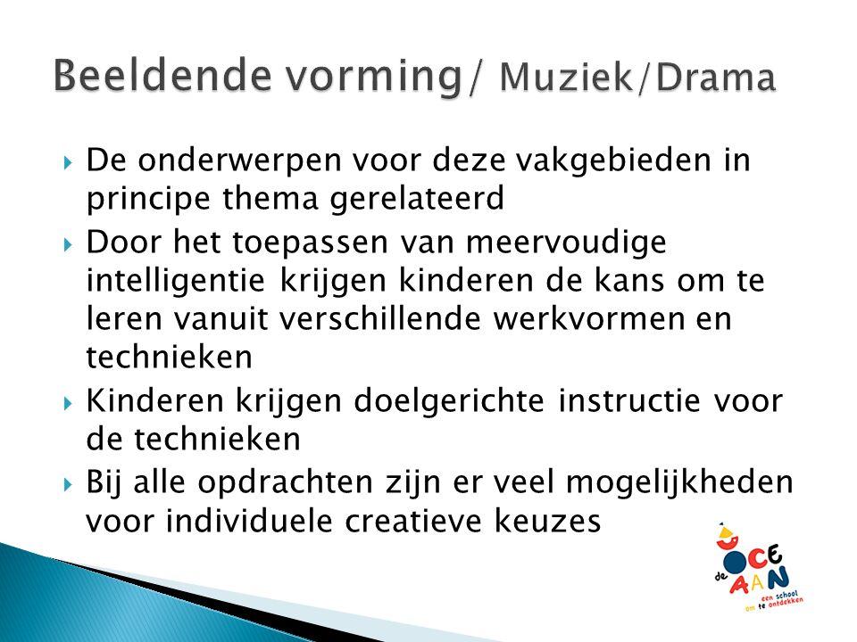 Beeldende vorming/ Muziek/Drama