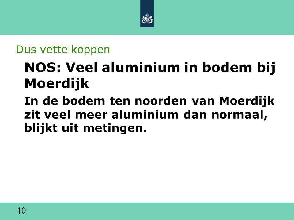 NOS: Veel aluminium in bodem bij Moerdijk