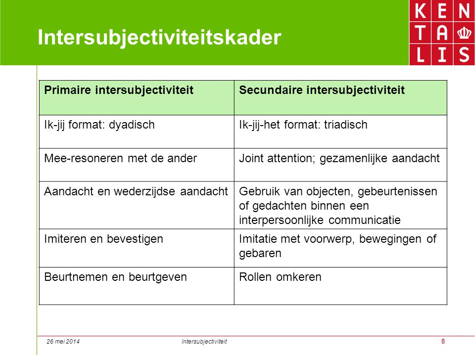 Intersubjectiviteitskader