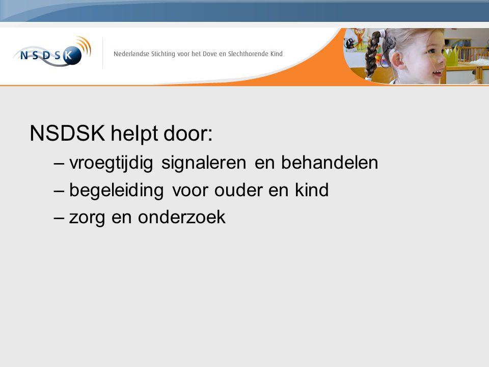 NSDSK helpt door: vroegtijdig signaleren en behandelen