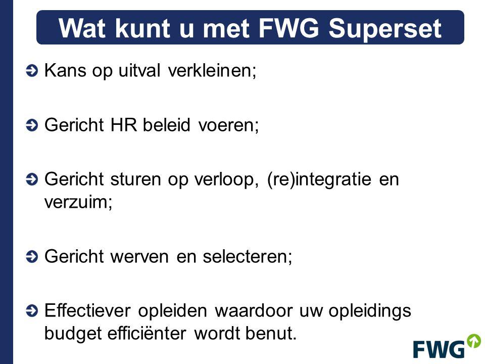 Wat kunt u met FWG Superset
