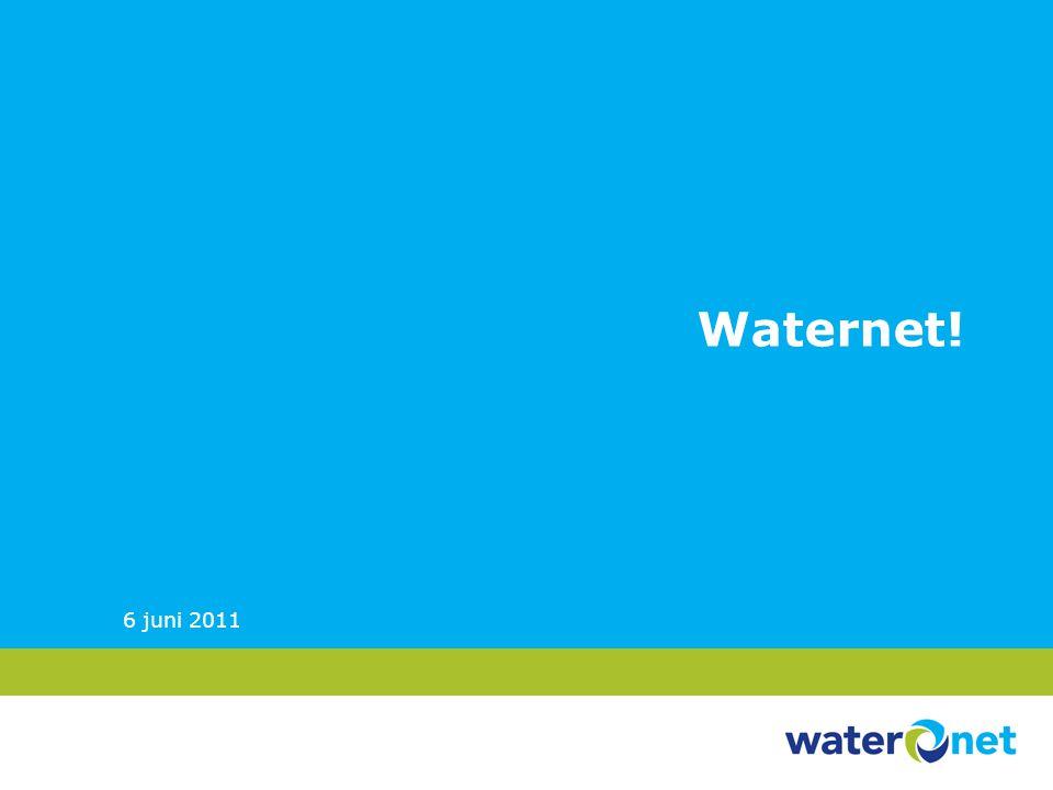 Waternet! 6 juni 2011 Strategische Personeelsplanning