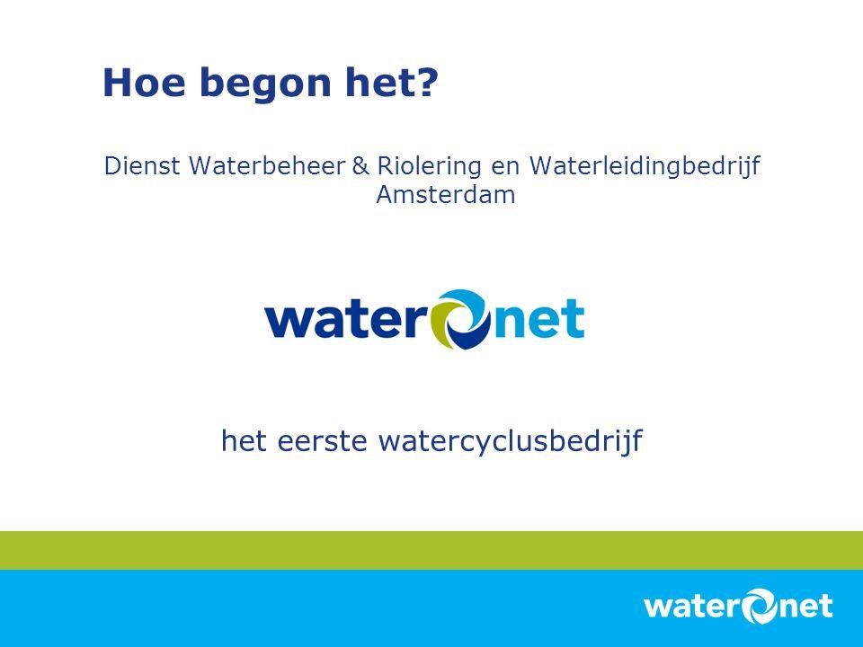 Hoe begon het het eerste watercyclusbedrijf