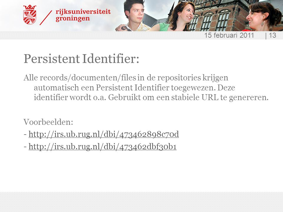 Persistent Identifier: