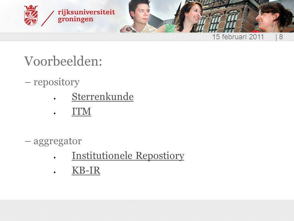 Voorbeelden: – repository Sterrenkunde ITM – aggregator