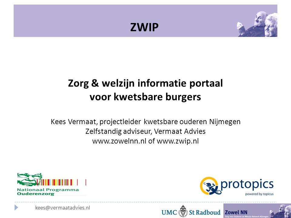 Zorg & welzijn informatie portaal voor kwetsbare burgers
