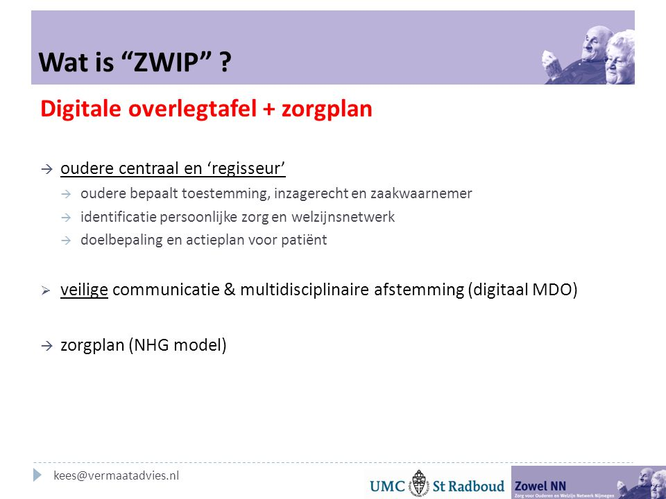 Wat is ZWIP Digitale overlegtafel + zorgplan