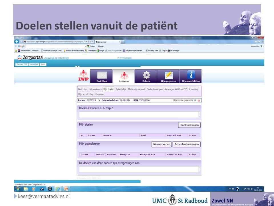 Doelen stellen vanuit de patiënt