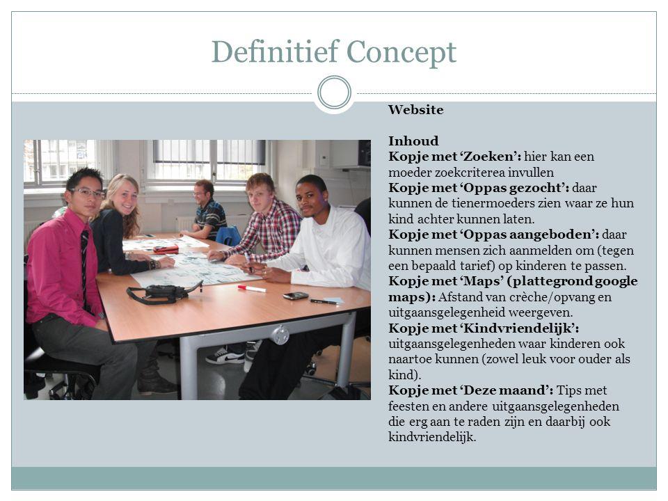 Definitief Concept Website Inhoud
