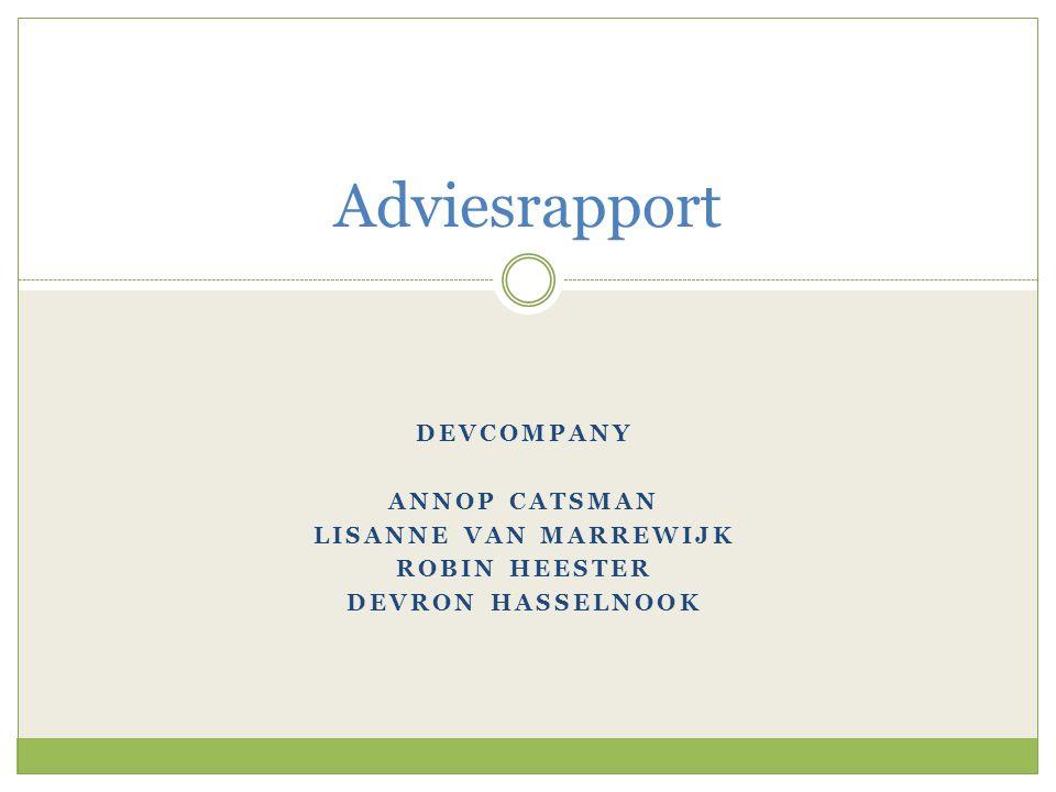 Adviesrapport Devcompany Annop Catsman Lisanne van Marrewijk