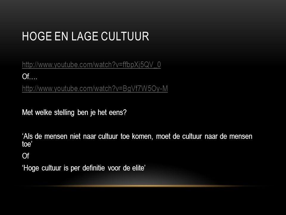 Hoge en lage cultuur