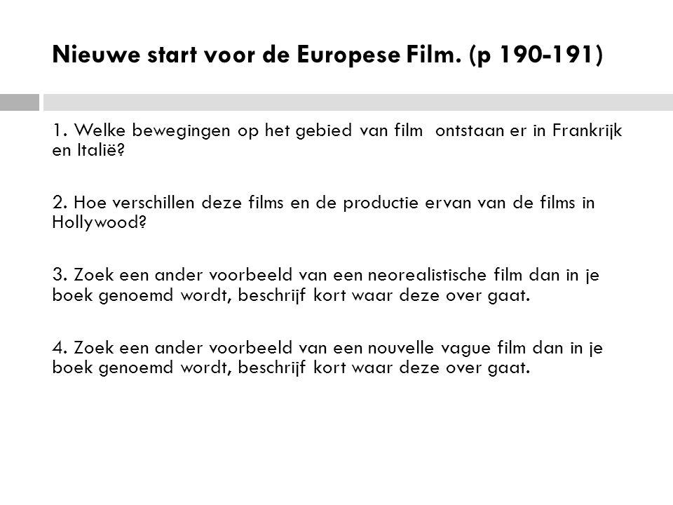 Nieuwe start voor de Europese Film. (p 190-191)
