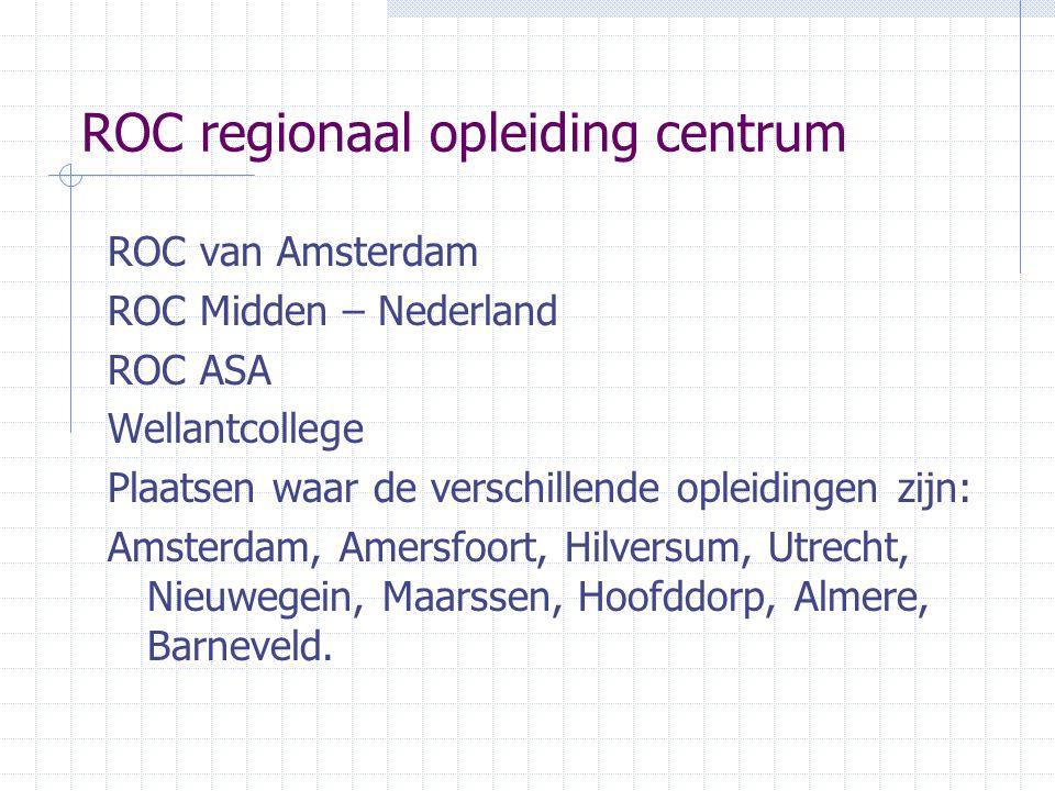 ROC regionaal opleiding centrum