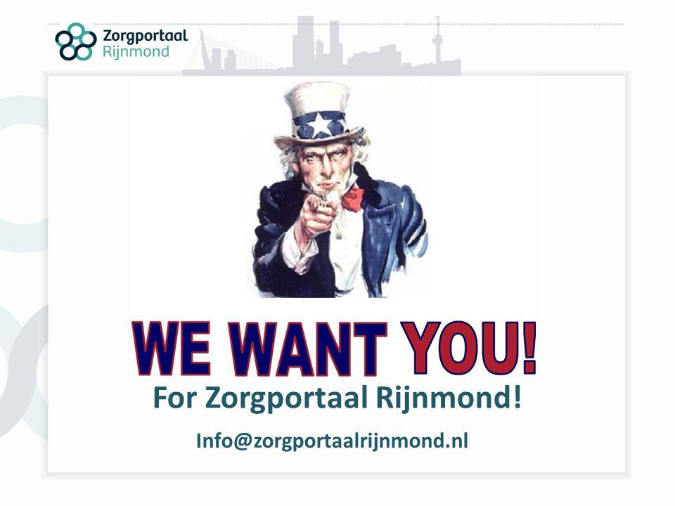 For Zorgportaal Rijnmond!