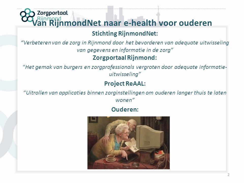 Van RijnmondNet naar e-health voor ouderen