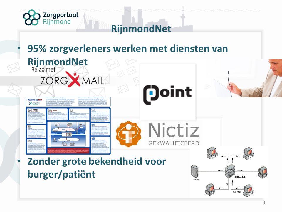 RijnmondNet 95% zorgverleners werken met diensten van RijnmondNet.