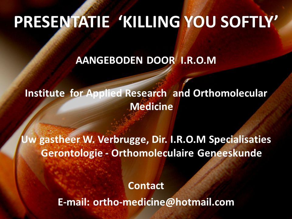 presEntatie 'KILLING YOU SOFTLY'