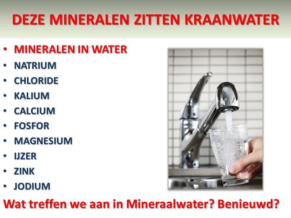 Deze mineralen zitten kraanwater