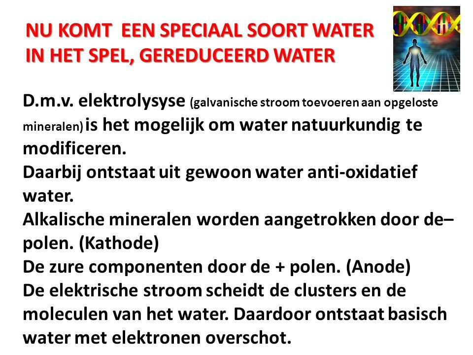 NU KOMT EEN SPECIAAL SOORT WATER IN HET SPEL, Gereduceerd water