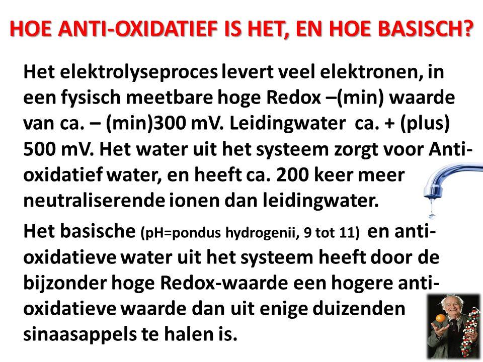 Hoe anti-oxidatief is het, en hoe basisch