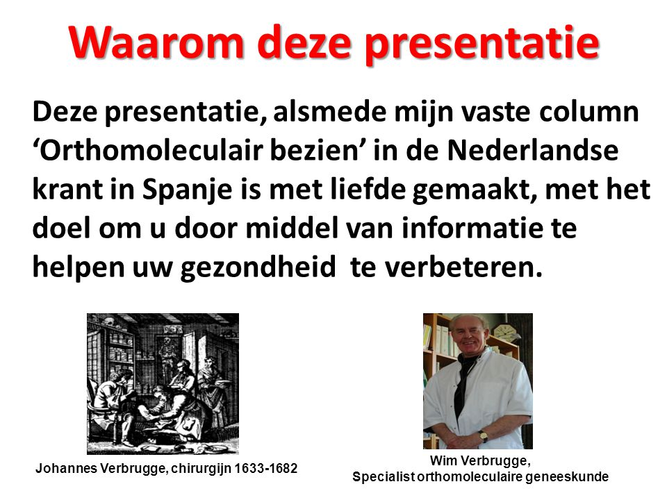 Waarom deze presentatie