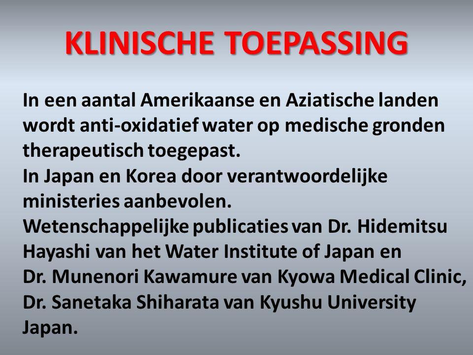 KLINISCHE TOEPASSING