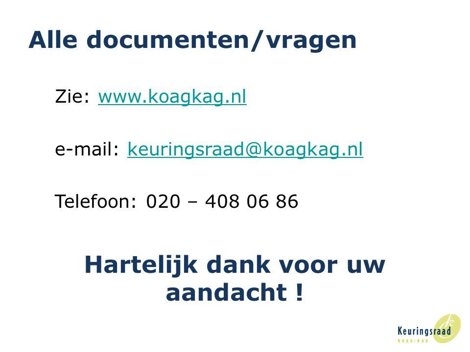 Alle documenten/vragen