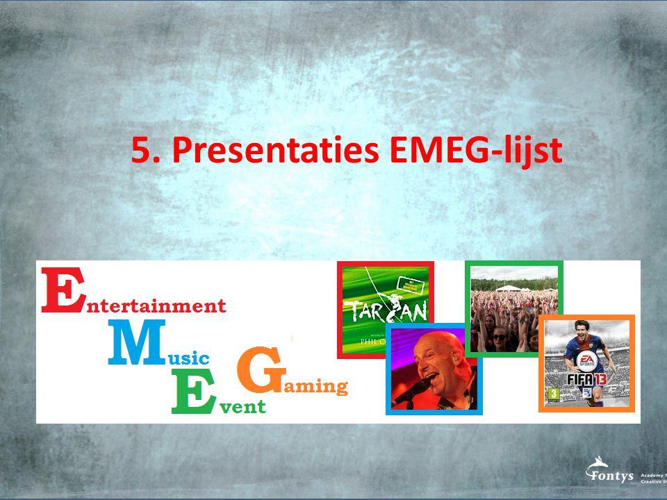 5. Presentaties EMEG-lijst
