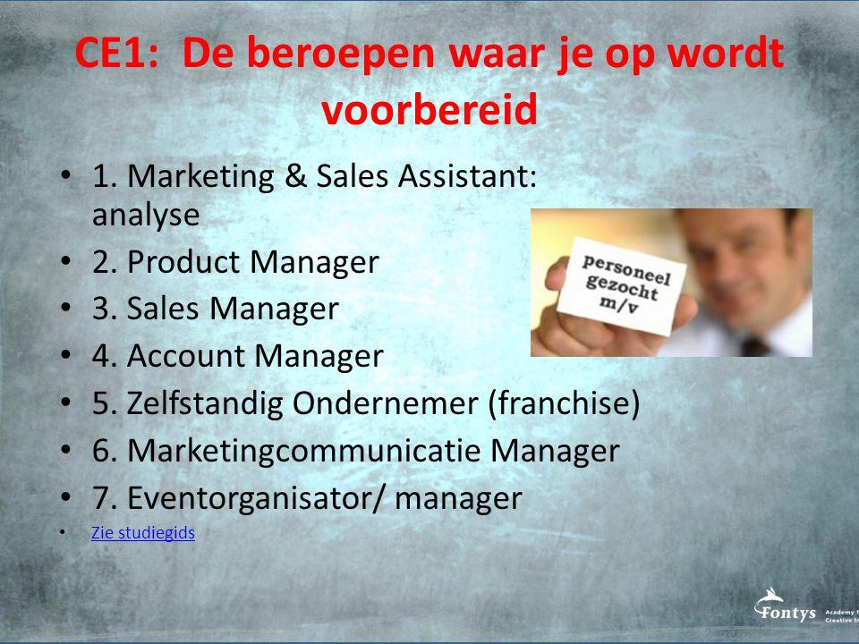 CE1: De beroepen waar je op wordt voorbereid