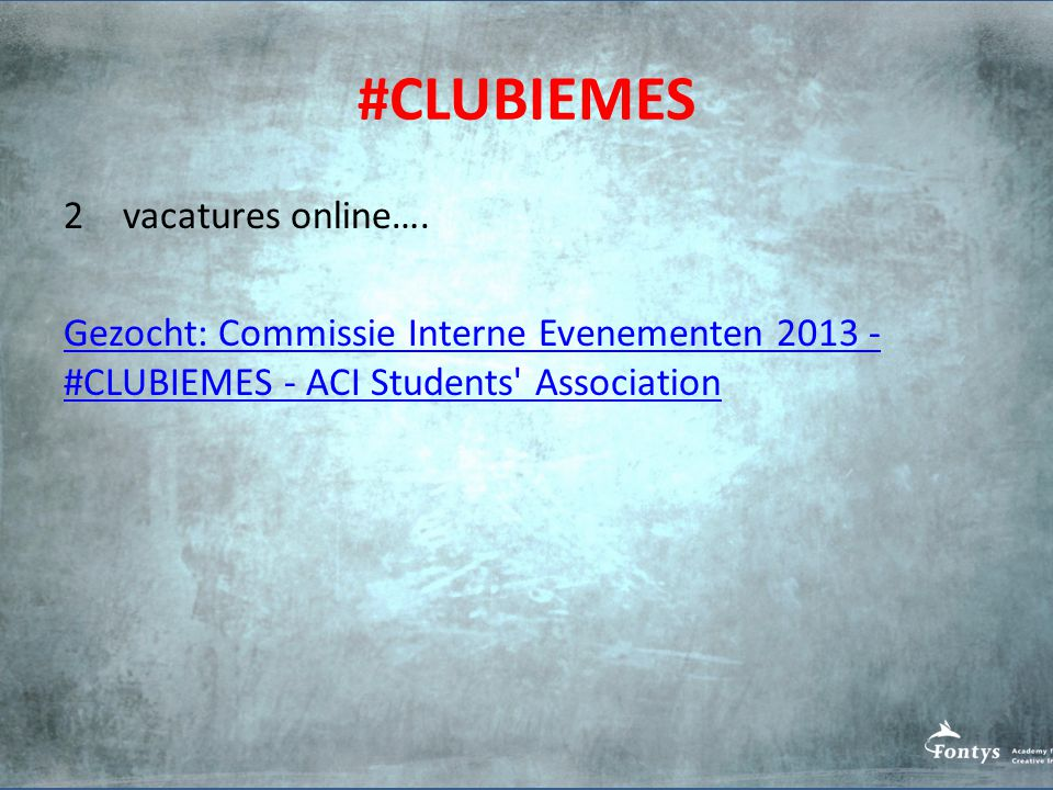 #CLUBIEMES vacatures online….