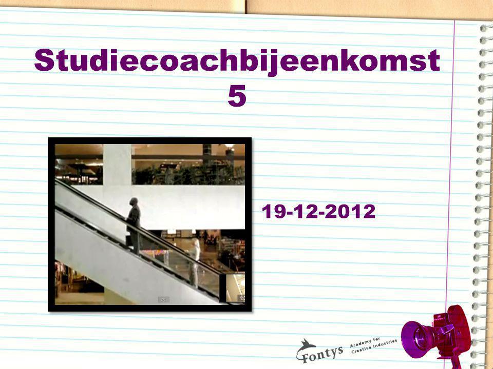 Studiecoachbijeenkomst 5